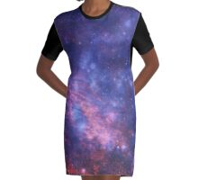 Starry Sunset Graphic T-Shirt Dress