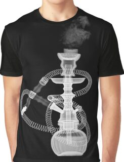 Hookah (Mid eastern waterpipe) under x-ray  Graphic T-Shirt