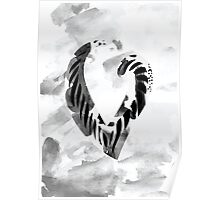 Letter V Alphabet Abstract Watercolour Textured Poster