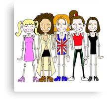 The Spice Girls inspired design Canvas Print