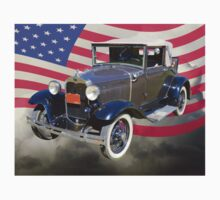 Model A Ford Roadster With American Flag Kids Clothes