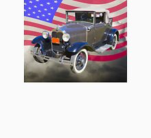 Model A Ford Roadster With American Flag T-Shirt