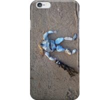 Flint caught a jellyfish iPhone Case/Skin