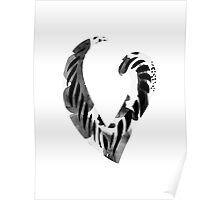 Alphabet Letter V Abstract Watercolour white Poster