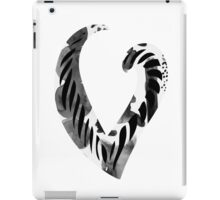 Alphabet Letter V Abstract Watercolour white iPad Case/Skin