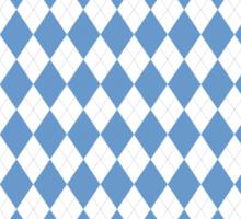 UNC Argyle Carolina Blue Tarheel Sticker