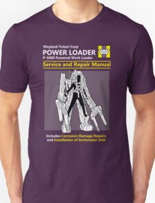 Power Loader Service and Repair Manual Unisex T-Shirt