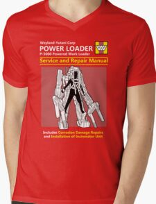 Power Loader Service and Repair Manual Mens V-Neck T-Shirt