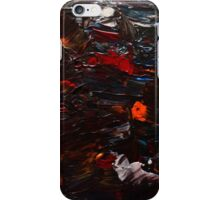 Abstract Purple Orange Red Blue Drip Painting Acrylic On Canvas Board iPhone Case/Skin