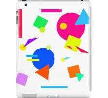 Coloured Retro (Large) Shapes 1980's - White - 80s 80's 1980s 1980's 1980 Classic Throw Back iPad Case/Skin