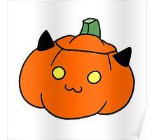 Kitty Jack o' Lantern Poster