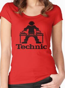skilled dj shirt Women's Fitted Scoop T-Shirt