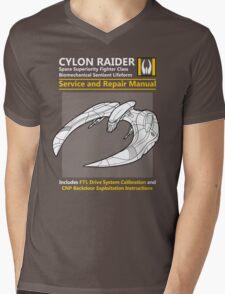 Cylon Raider Service and Repair Manual Mens V-Neck T-Shirt