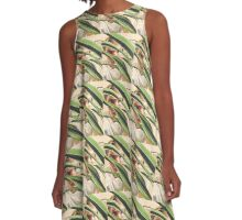 George in Plants A-Line Dress