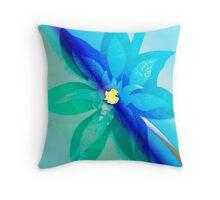 Aquarel Flower Throw Pillow