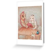 Alice and the Caterpillar. Greeting Card