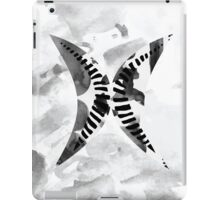 Letter X Alphabet Abstract Watercolour Textured iPad Case/Skin