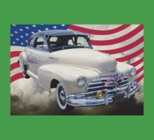 1948 Chevrolet Fleetmaster Car With American Flag Kids Clothes