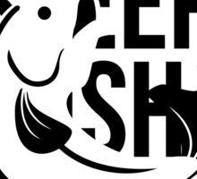 Eat. Sleep. Fish. Repeat. Any Questions? - Fishing T Shirt Sticker