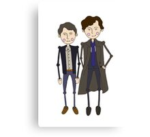 Benedict Cumberbatch's Sherlock inspired design Canvas Print