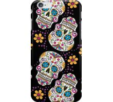 Sugar Skull Halloween, Day Of The Day BLACK iPhone Case/Skin