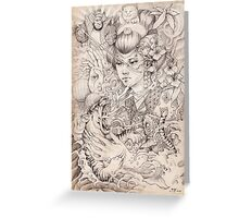 Irezumi Greeting Card
