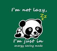 lazy panda Womens Fitted T-Shirt