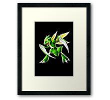 Pokemon - Scyther Brush Neon Light Framed Print