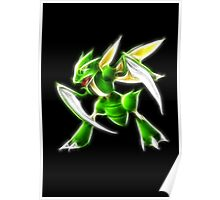Pokemon - Scyther Brush Neon Light Poster
