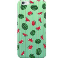 Sliced and Whole Watermelon Pattern iPhone Case/Skin