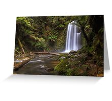 Beauchamp Falls, Otway Rangers, Victoria. Greeting Card
