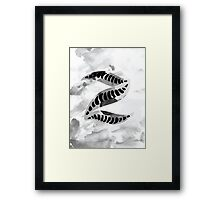 Alphabet Letter Z Abstract Watercolour Textured Framed Print