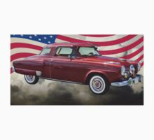 Studebaker Champian Antique Car And American Flag Kids Clothes