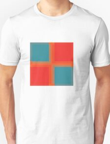 Russian Squares Blue Unisex T-Shirt