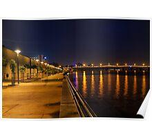 Sabarmati Riverfront, Ahmedabad, India Poster