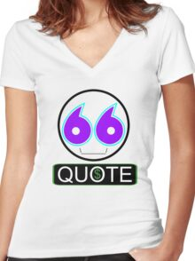 Issue a quote Women's Fitted V-Neck T-Shirt