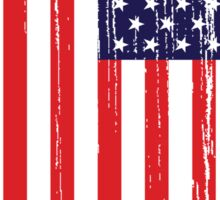 American Flag Distressed Sticker