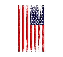 American Flag Distressed Photographic Print