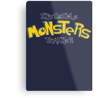 Invisible Pokemon Monsters Trainer Metal Print