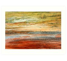 Morning Glow - Oil Pastel Art Print