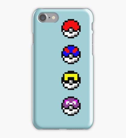 Pokemon Pokeballs Pixel iPhone Case/Skin