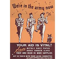 Vintage poster - Canadian Rationing Photographic Print