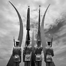 United States Air Force Memorial Honor Guard Statue by Matsumoto