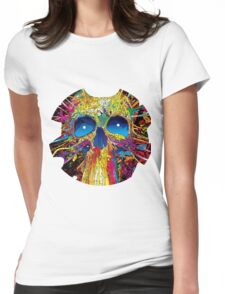 Psychedelic Skull Womens Fitted T-Shirt