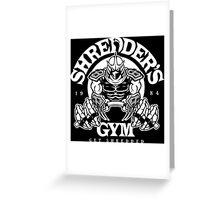 Shredder's Gym Greeting Card