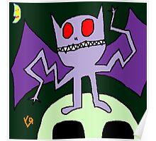 """""""Wacky Bat"""" by Richard F. Yates Poster"""