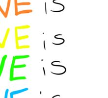 and love is love is love... Sticker