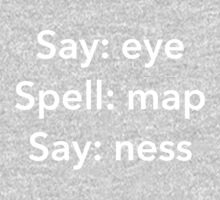Say Eye Spell Map Say Ness Funny Shirt One Piece - Long Sleeve