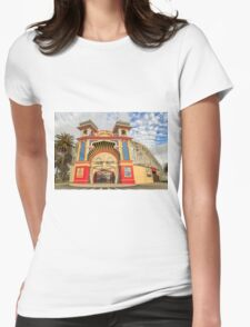 Luna Park St Kilda, Melbourne Womens Fitted T-Shirt