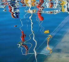 Wibbly Wobbly Flagpole Reflections by Susie Peek